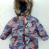 Зимние куртки для мальчиков 80-98