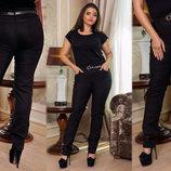 Женские стильные брюки в больших размерах 214 Алекс Ремешок .