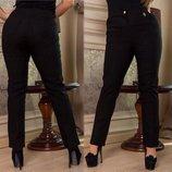 Женские стильные брюки в батальных размерах 241 Алекс Кармашки Подвеска .