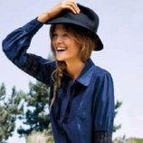 Женская черная фетровая шляпа р.56 Takko Fashion Германия