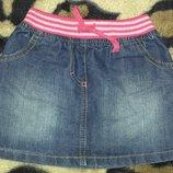 джинсовая юбка на 18-24 мес