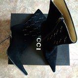 GUCCI демисезонные полусапожки ботинки замш натуральный