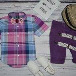 2 года 92 - 98 см Геп Gap Очень модная фирменная рубашка тенниска для мальчика клетка