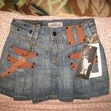Крутая джинсовая юбочка новая MORGAN