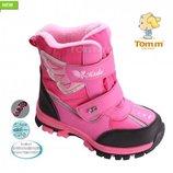 распродажа. Зимние термо Ботинки TOM.M для девочки р.28-33