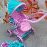 Коляска кукольная Melogo 9672 розово-мятная