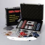Настольная игра покер M 2778, 300 фишек с номиналом 5-ти видов