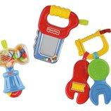 Fisher-Price Набор из трех погремушек для мальчика инструменты Brilliant Basics Fun to Fix Gift Set