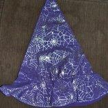 Шляпа карнавальная хелоуин hellowin ведьма колдунья 58-60 см