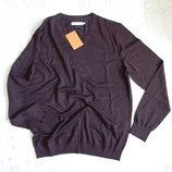шикарный фирменный свитер пуловер лана L