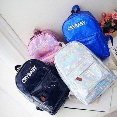 213060197165 Голограммный Рюкзак CRY BABY Большой Рюкзак голографический,разные цвета