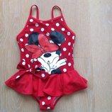 Купальник 3-4 г девочке детский новый красный горох Disney Дисней Минни Маус фирменный
