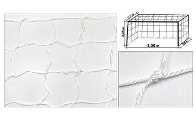 Сетка на ворота для футзала и гандбола тренировочная эконом 5285 размер 3х2м, ячейка 12х12см