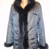 Классная куртка с натуральным мехом PEM tne collection 14 р