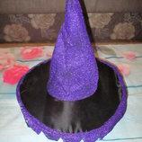 Колпак шапка к карнавальному костюму ведьмочки колдуньи на Хеллоуин