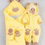 Набор для новорожденных Панда , зимний, желтый