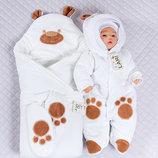 Набор для новорожденных Панда , зимний, белый