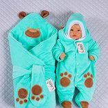 Набор для новорожденных Панда , зимний, ментоловый