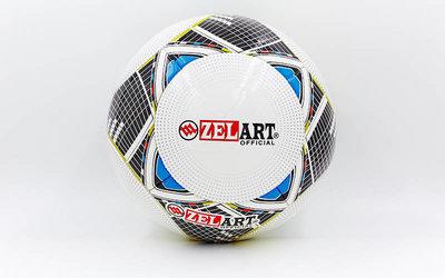 Мяч футбольный 5 Zelart FB-14P PU, клееный