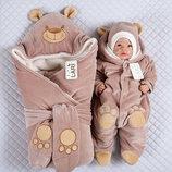 Набор для новорожденных Панда , зимний, молочный шоколад