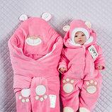 Набор для новорожденных Панда , зимний, розовый