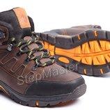 Ботинки кожаные зимние Columbia Nubuck Brown
