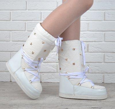 Дутики женские луноходы термо Moon Boots Milk самая теплая обувь