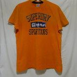Футболка оранжевая с перфорацией Бренд SuperDry XXL