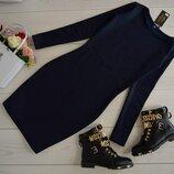 Очень тёплое платье турецкий трикотаж на меху 4 цвета с круглым вырезом классическое от р40 по р52