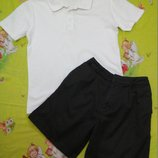 Комплектом футболка поло и шорты на 9-11 лет