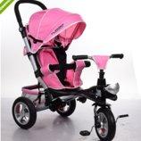 Велосипед-Коляска Turbotrike, надувные колеса M 3647A-10, нежно розовый
