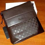 Мужская фирменная сумка Fashion 106-1 Brown 20,5x17x6 см