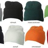 Классическая шапка, ребристая вязка. Большой выбор цвета.