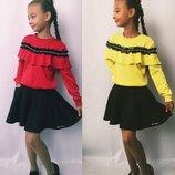Нарядный костюм для девочки, модный волан - хит