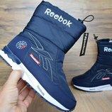 Зимние женские ботинки Reebok 6000 dark blue