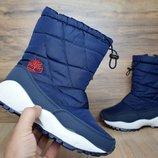 Зимние женские ботинки Timberland blue