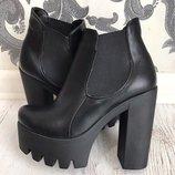 ботинки Материал Эко кожа высокого качества Внутри байка Демисезон