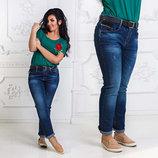 Женские стильные джинсы в больших размерах 0659. Турция.