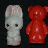 игрушка ссср Зайчик и мишка