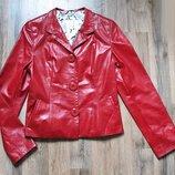 Кожаная курточка, жакет, пиджак цвета страсти от Тм Bassania