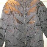Куртка пуховик теплая девичья 140 см.