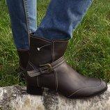 Ботинки коричневые женские демисезонные 40 размер