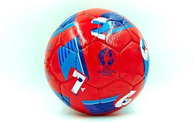 Мяч футбольный 5 Euro 2016 5213 PU, сшит вручную