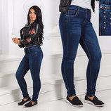 Стильные женские джинсы стрейч супер-батальные 8595-1.