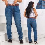 Женские стильные джинсы бойфренд супер-батальные 0804. Турция.