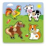 Рамка-Вкладыш Viga Toys Ферма 50839