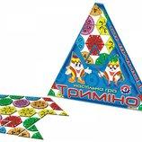Настольная игра Тримино Технок 2827 треугольное домино