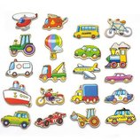 Набор магнитных фигурок Viga Toys Транспорт 20 шт. 58924VG