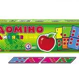 Настольная игра Домино Детское картонное Технок 2568