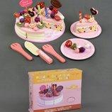 Деревянный торт с начинками и украшениями С23234 игрушечные продукты еда